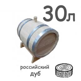 Бочка дубовая из радиальной клепки, 30 литров