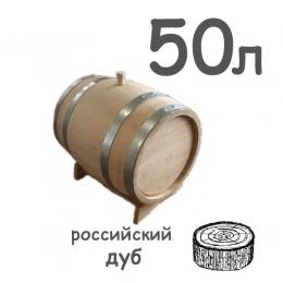 Бочка дубовая из радиальной клепки, 50 литров