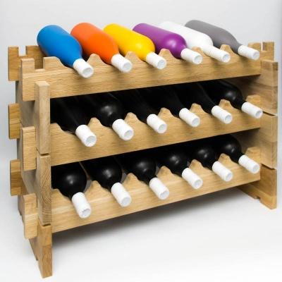 Дубовые винные стеллажи, 3 модуля