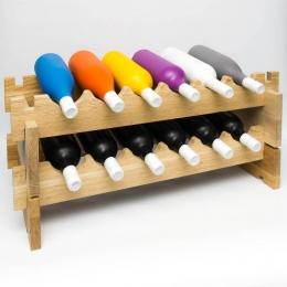 Дубовый винный стеллаж, 2 модуля