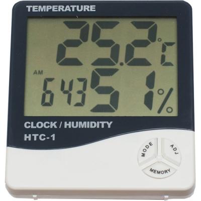 Термометр со встроенными часами и гигрометром T-4