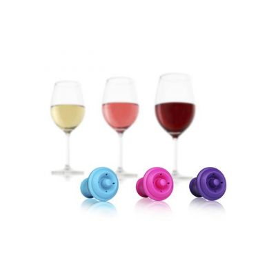 Набор VacuVin Wine Stoppers Set of 3 Pi/Bl/Pu