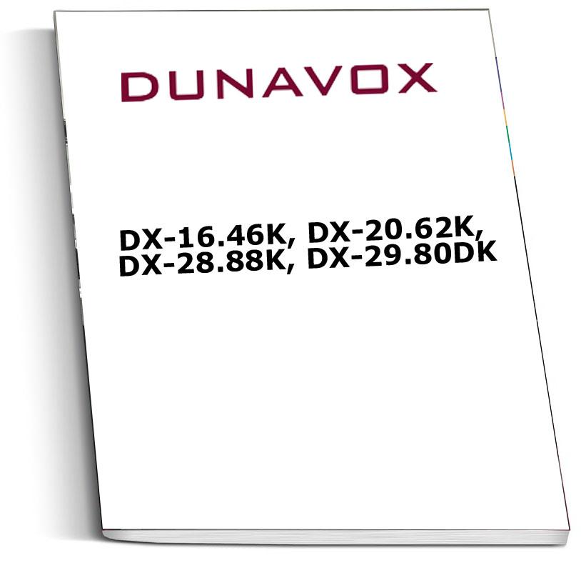 Инструкция к винным шкафам Dunavox DX-16.46K, DX-20.62K, DX-28.88K, DX-29.80DK