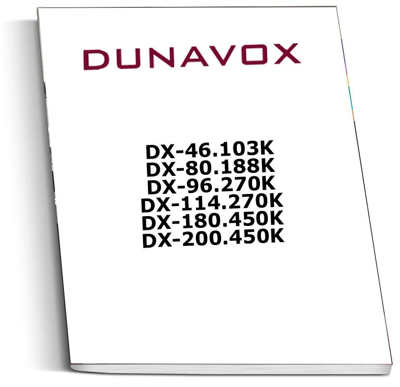 Инструкция к винным шкафам Dunavox DX-46.103K, DX-80.188K, DX-96.270K, DX-114.270K, DX-180.450K, DX-200.450K