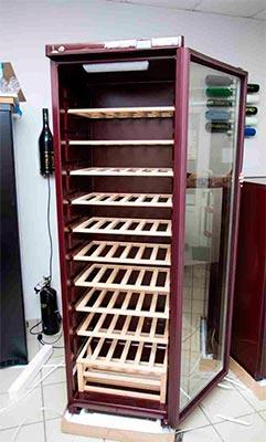 винный шкаф POZIS Wine ШВ-120 вид внутри фото