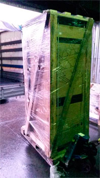 винный шкаф в транспортной упаковке фото