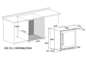 схема встройки под столешницу