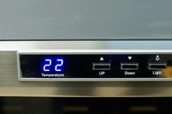 винный шкаф Ecotronic WCM 16TE панель управления фото 3
