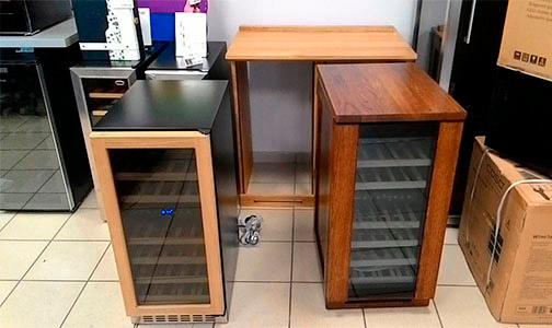 Винные шкафы из дерева фото