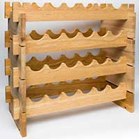 Деревянный стеллаж для вина модульный фото