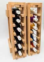 Вертикальный модульный узкий стеллаж для вина фото