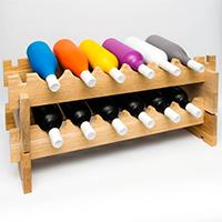 Модульный стеллаж для вина 2 модуля фото