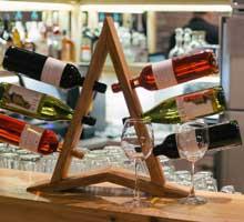 Подставка стеллаж для винных бутылок фото