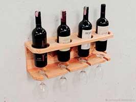 Полка для вина и бокалов фото