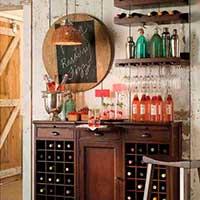 Барный стеллаж для вина в интерьере фото