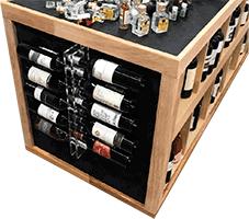 Модульный стеллаж для вина из оргстекла фото