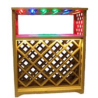 Деревянный стеллаж для винных бутылок фото